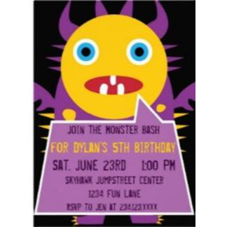 Monster Birthday Party Invitations