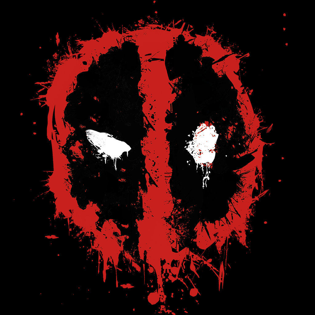 Deadpool Paint Splatter Logo