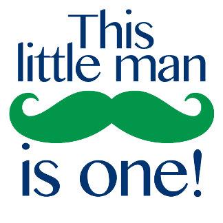 Little Man Moustache Birthday Shirts