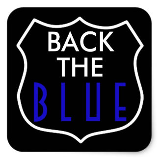 BACK THE BLUE SUPPORT POLICE COLLECTION