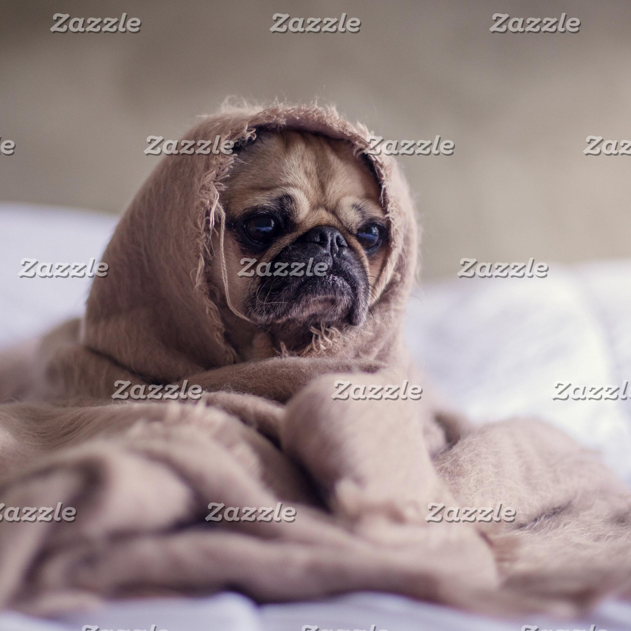 Pug blanket - pet pug - cute pugs