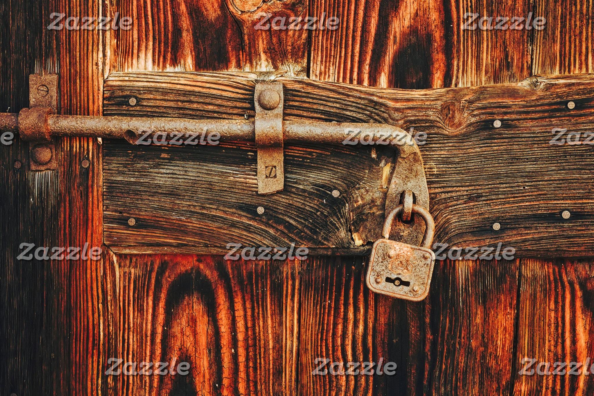 Doors, locks, wood, hardware