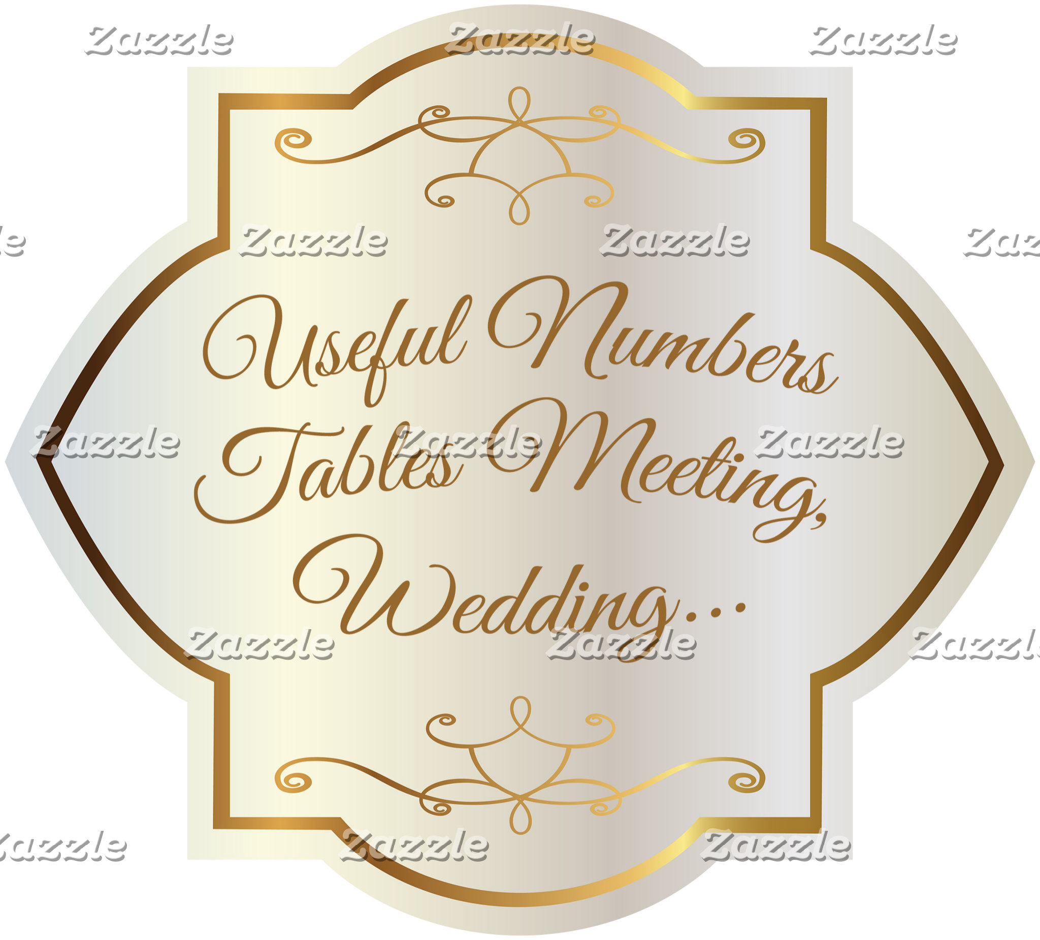 Tables Numbers, meeting, prom, wedding...