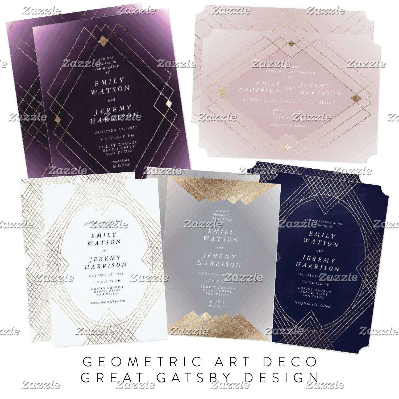 Geometric Art Deco Great Gatsby Design