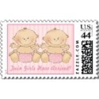 Twins Postage Stamps   Triplets Stamps