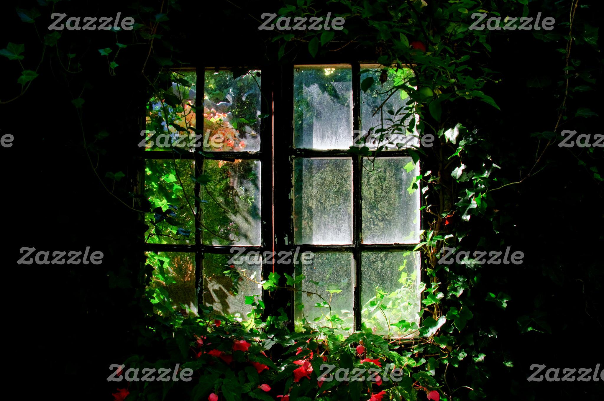 Window in a cottage garden