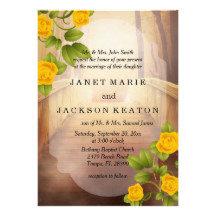 Bridge of Love Outdoor Wedding - Yellow Roses