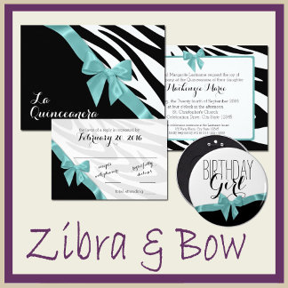 Zebra and Bow