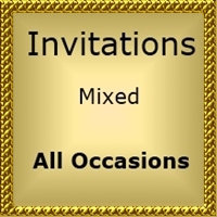 INVITATIONS For all occasions Mixed