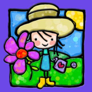 Little Girlie loves her garden!
