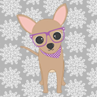 Cute Chihuahua with Glasses