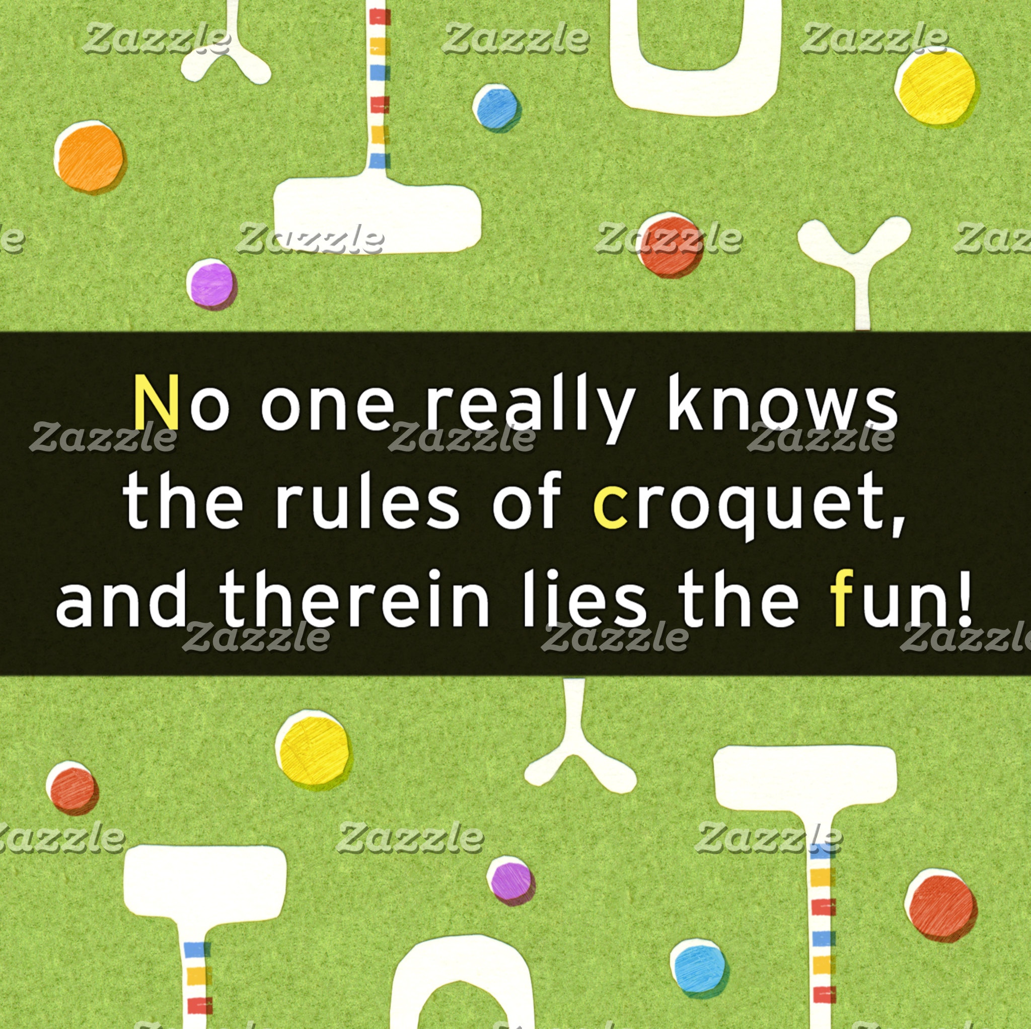 """""""Croquet Rules Poster Print"""""""