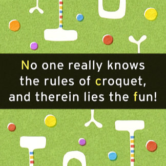 """Croquet Rules Poster Print"""