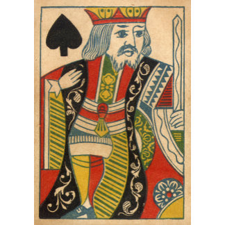 """King of Spades Card Poster Print"""