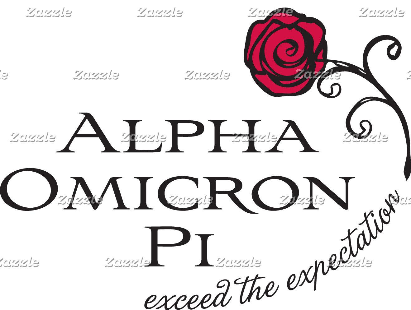 Alpha Omicron Pi Stacked Name