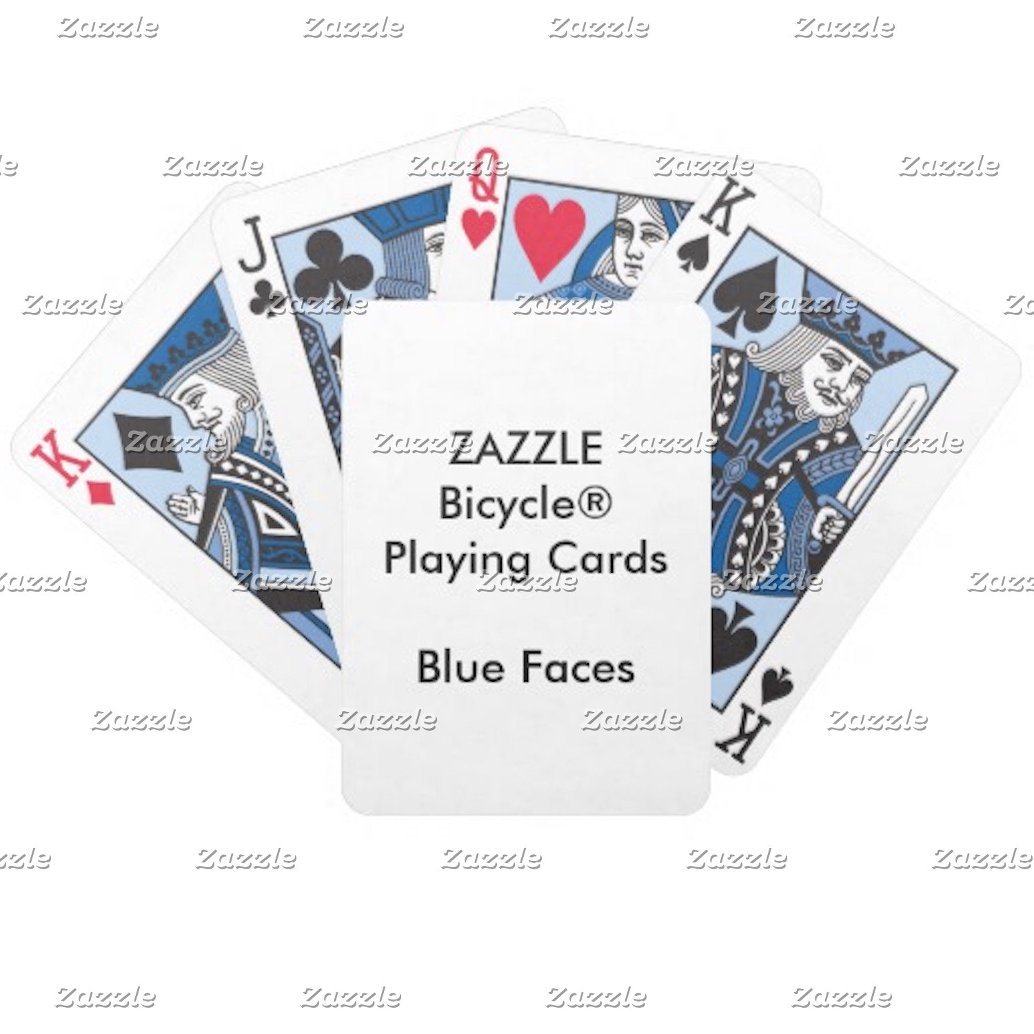 Bicycle® BLUE Faces