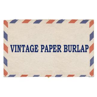 VINTAGE PAPER BURLAP
