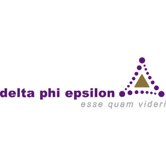 Delta Phi Epsilon Logo and Name - Color