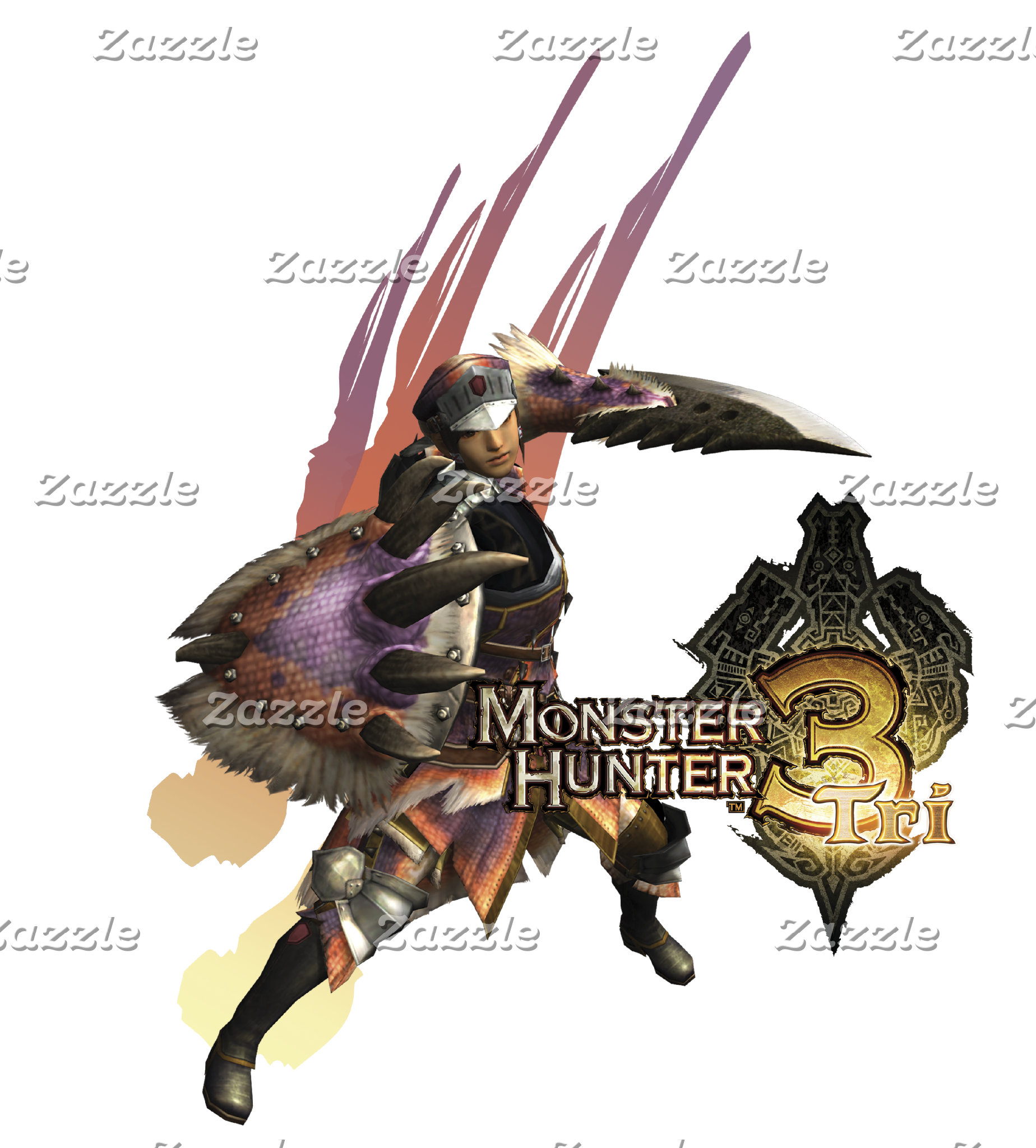 Female Hunter with Sword and Shield, Jaggi Armor