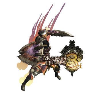 Female Hunter with Sword and Shield, Jaggi Armor