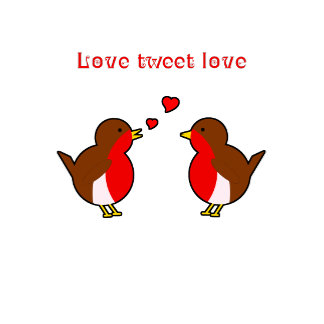 Robins tweet love