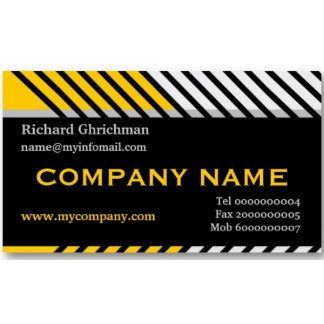 Modern stripes construction business cards