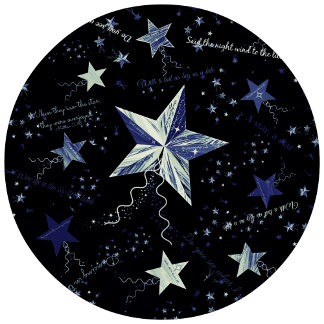 Christmas Blue Star Collage