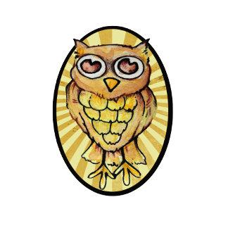 Cute retro OWL watercolor