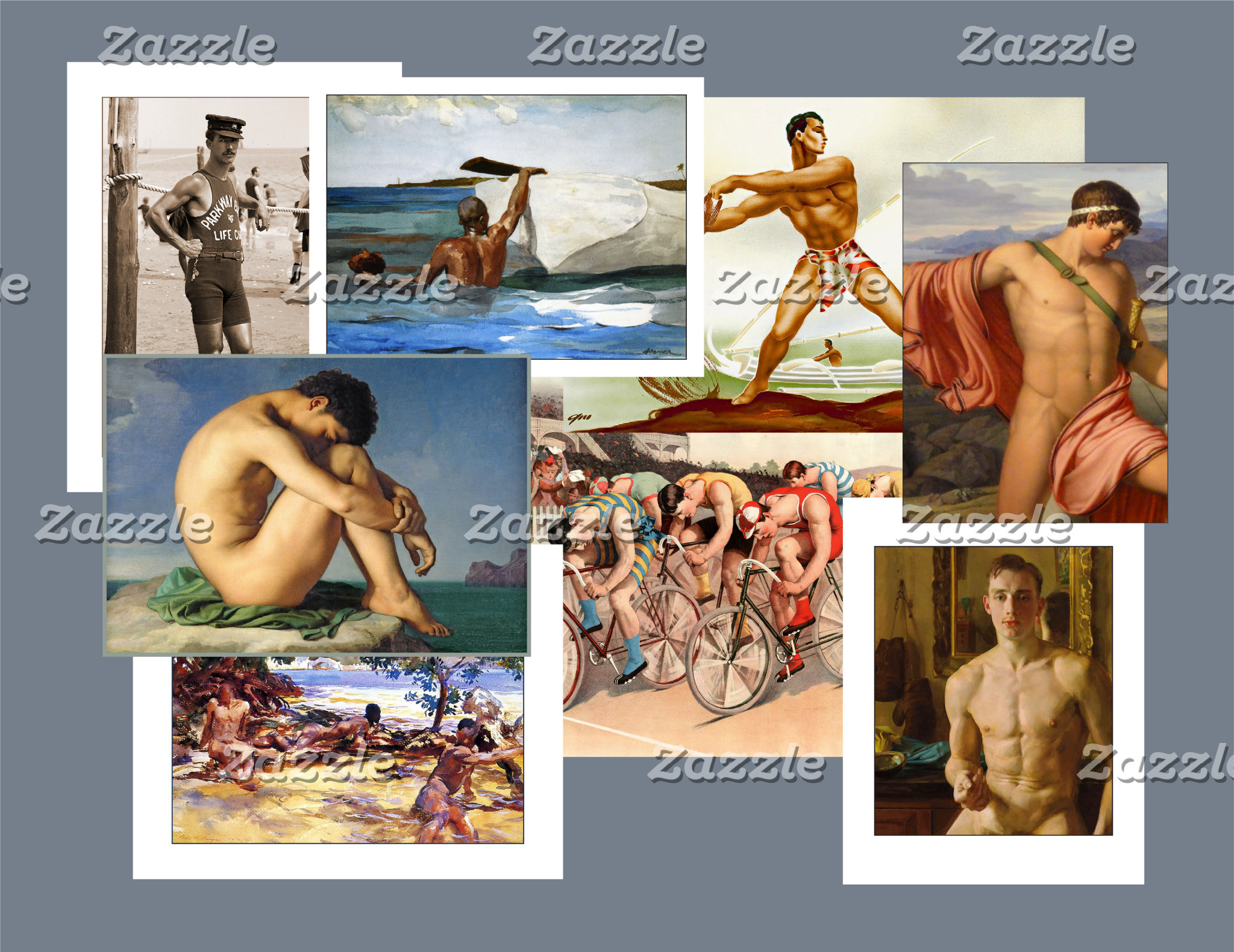 Men in Art Cards