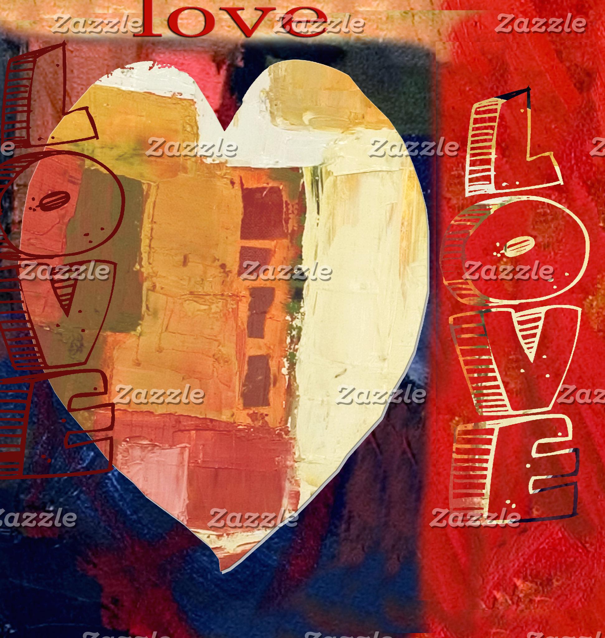 Abstract Art Heart Love
