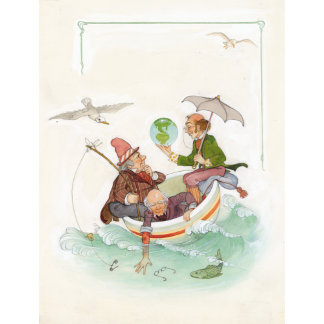 """Nursery Rhyme Mother Goose Poster Print"""