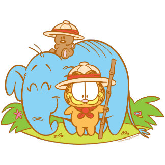 GARFIELD ON SAFARI
