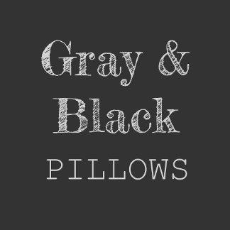 Gray, Black & Silver Pillows
