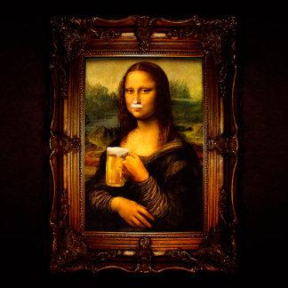 Mona lisa - mona lisa beer  - funny mona lisa-beer