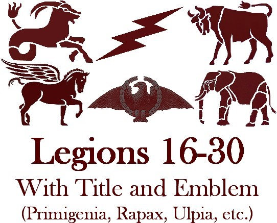 Legions 16-30 Titles and Emblems