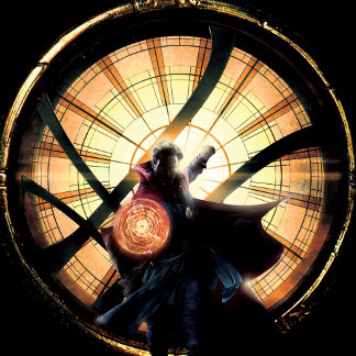 Doctor Strange In Front of Window of Worlds