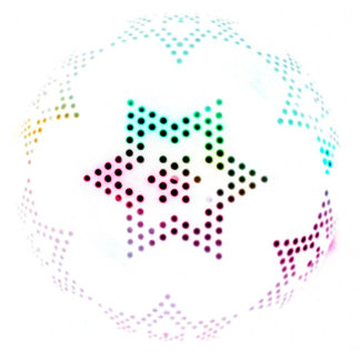 Multicolor Star Dot Pattern