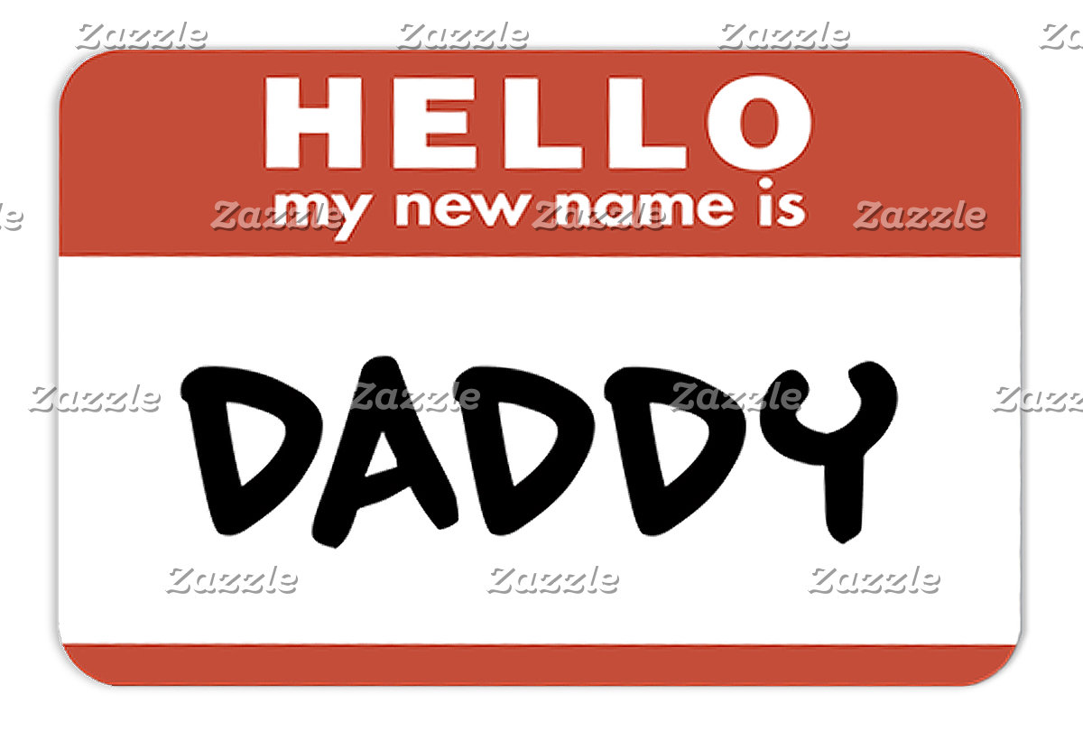 New Daddy Name Tag