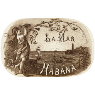 """Habana Girl with Tambourine Poster Print"""
