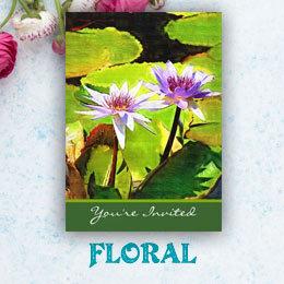 Flower Floral Wedding Invitations Stationery