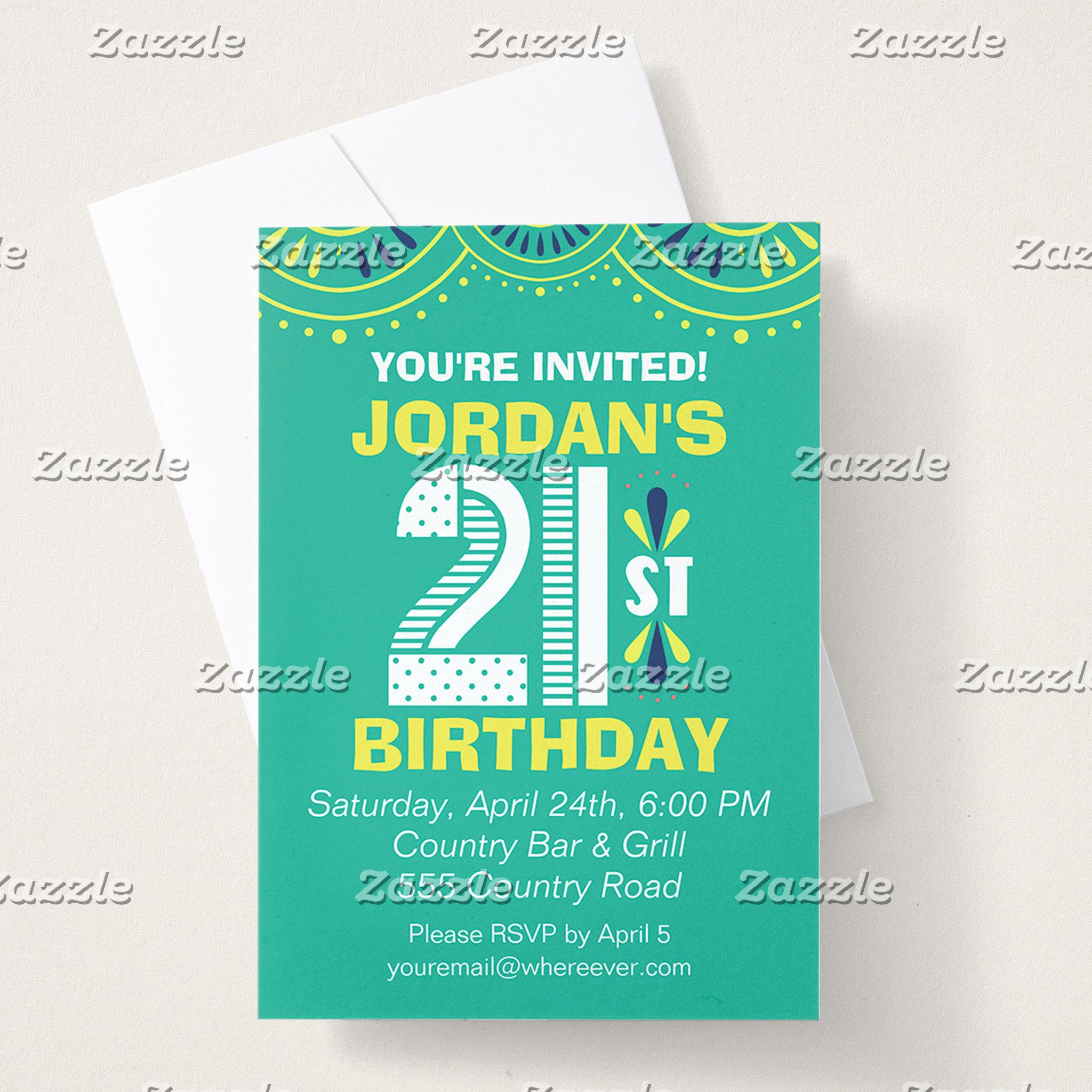 Decorative 21st Birthday