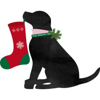 Christmas Black Lab Preppy Dog