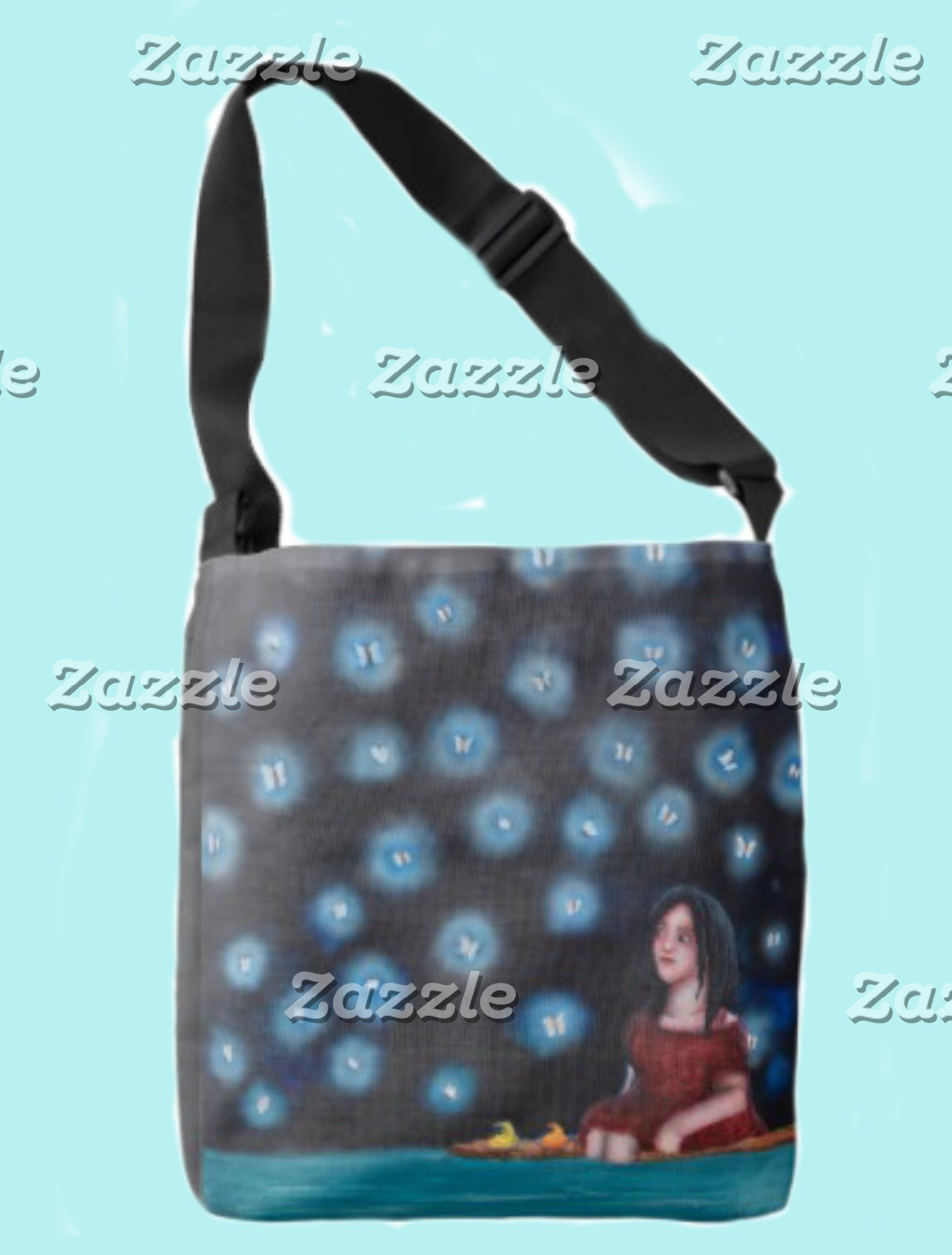 All-Over Print Cross-Body/Tote bags