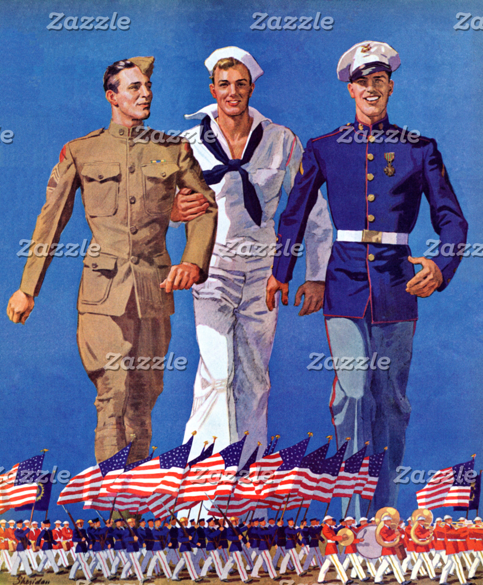 Army, Navy & Marines
