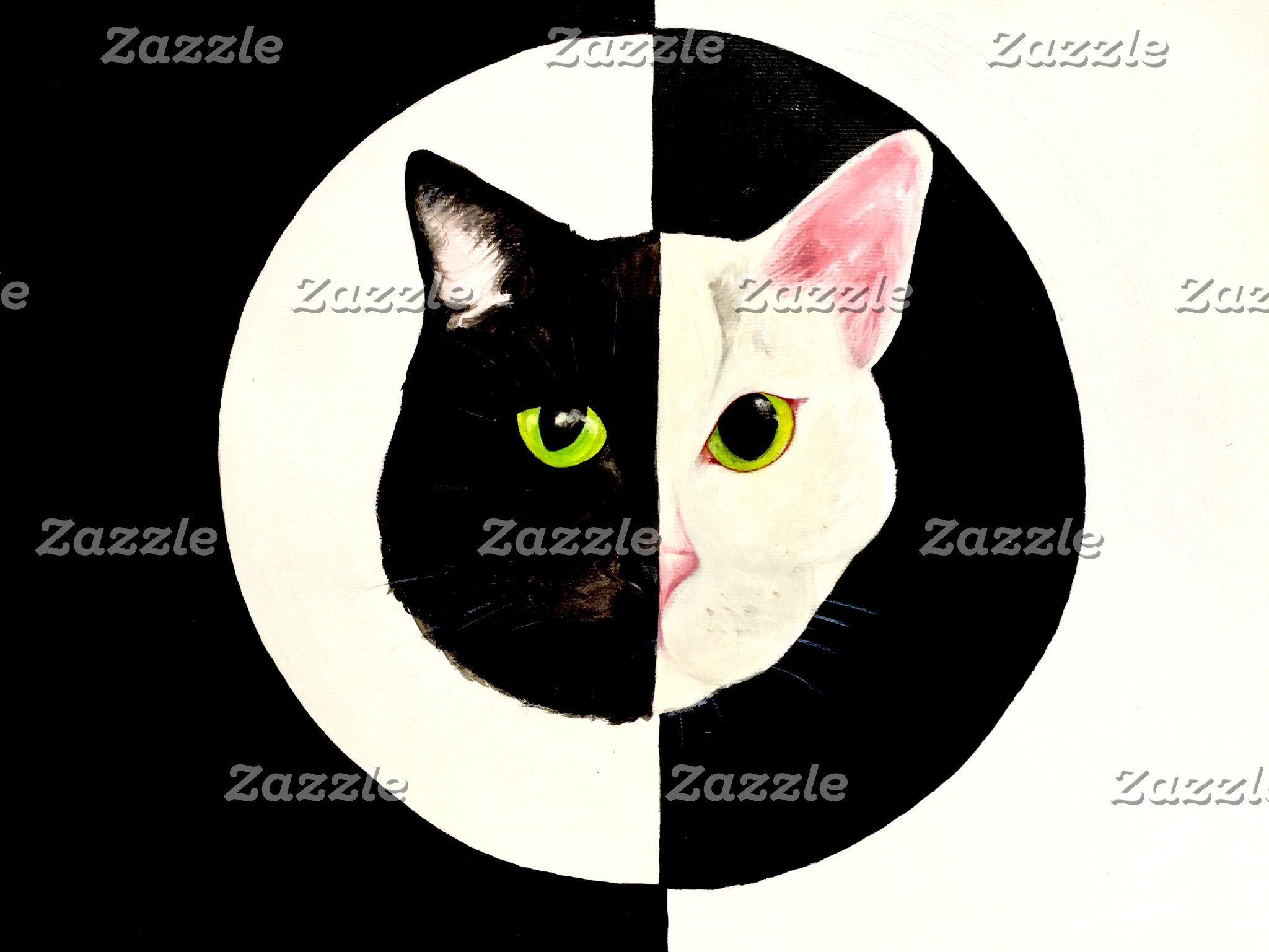 Yin yang cat