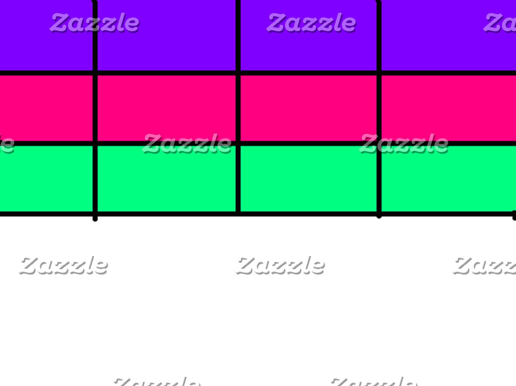 Pink, Green, Purple, Simple Grid Pattern