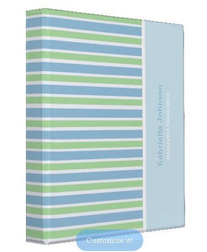 Colorful Stripes: Avery Signature Binders