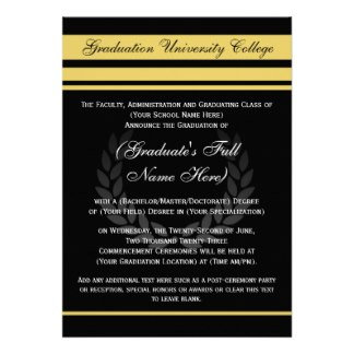 Graduation Announcements, Party Invitations