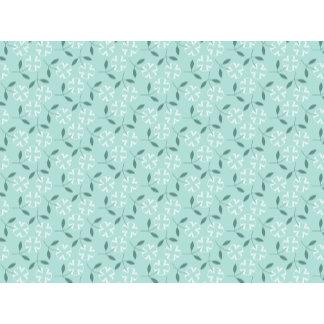 Little White Flowers & Mint Green Pattern