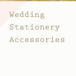 Wedding Stationery Accessories